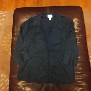 Old Navy Black Button Blouse. Size XL